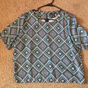 Boho blue shirt